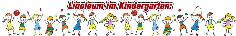 Linoleum im Kindergarten und Reinraum